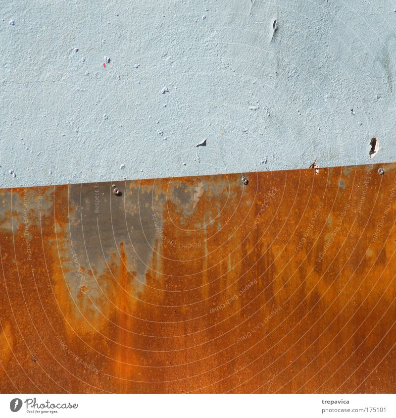 wand Colour photo Exterior shot Detail Deserted Wall (barrier) Wall (building) Stamp Stone Metal Steel Contentment