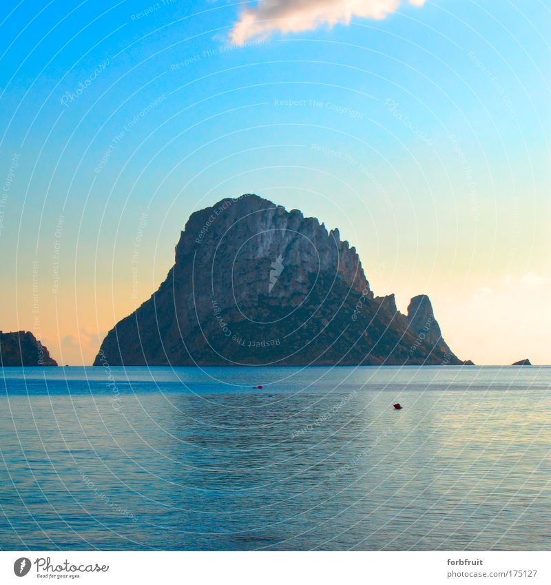 Nature Water Beautiful Ocean Blue Summer Vacation & Travel Calm Yellow Far-off places Emotions Freedom Stone Moody Elegant Free
