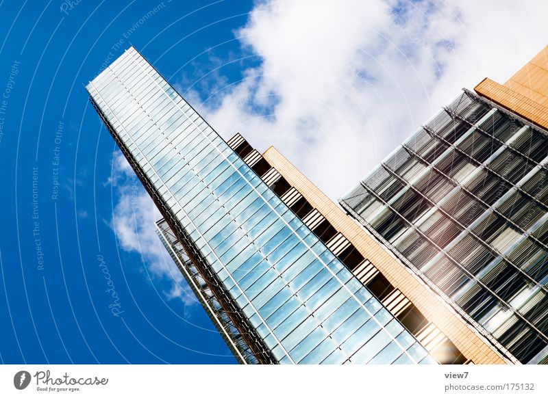 City House (Residential Structure) Window Wall (building) Wall (barrier) Facade Glittering Large Elegant Tall Success Growth High-rise Esthetic Might Bank building