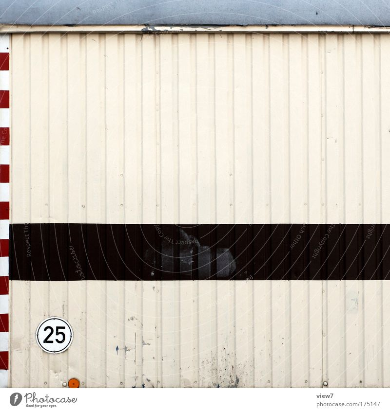 Old White Brown Metal Transport Break Roof Construction site Digits and numbers Stripe Uniqueness Sign Box Craft (trade) Signage