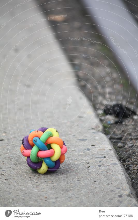 Colourful, so what? Colour photo Exterior shot Close-up Pattern Deserted Day Shallow depth of field Worm's-eye view Rail transport Toys Concrete Metal Plastic