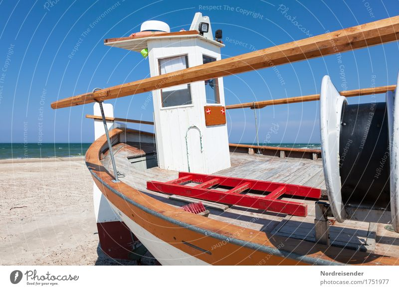 cutter Vacation & Travel Tourism Summer Summer vacation Sun Beach Ocean Work and employment Profession Sand Water Cloudless sky Beautiful weather North Sea