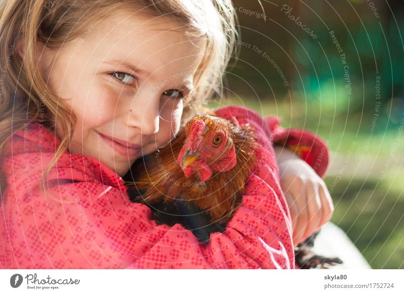Child Joy Girl Warmth Love Exceptional Hair and hairstyles Bird Infancy Feather Warm-heartedness Childhood memory Safety To hold on Near Kissing