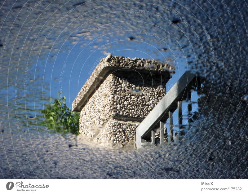mirroring Exterior shot Close-up Detail Deserted Shadow Reflection Water Drops of water Sky Climate change Weather Beautiful weather Bad weather Storm Rain