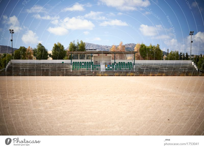 soccer star Soccer Ball sports Stands Sporting Complex Football pitch Stadium Architecture Sand Concrete Fitness Old Authentic Moody Decline Morbid Warmth