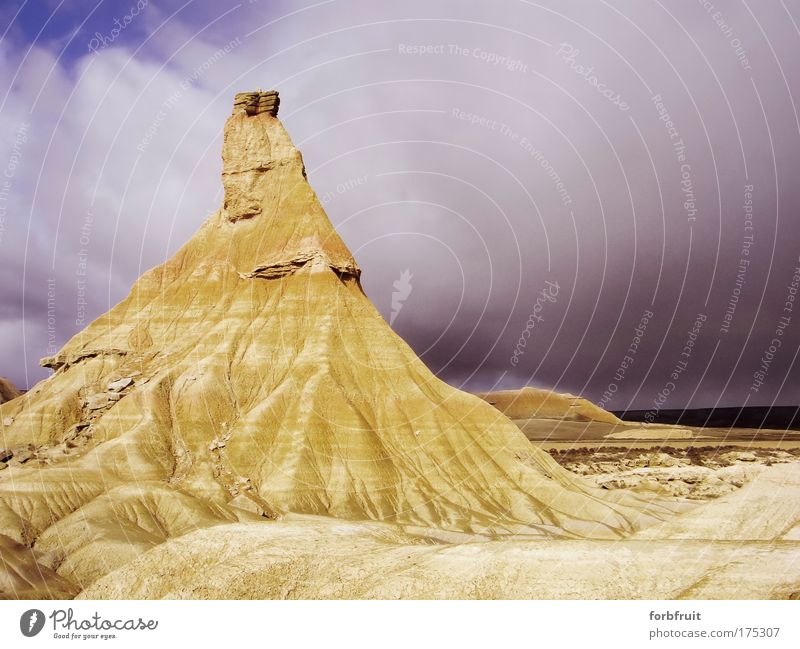 Nature Sky Vacation & Travel Clouds Yellow Stone Sand Landscape Environment Rock Earth Authentic Firm Dry Bizarre Original