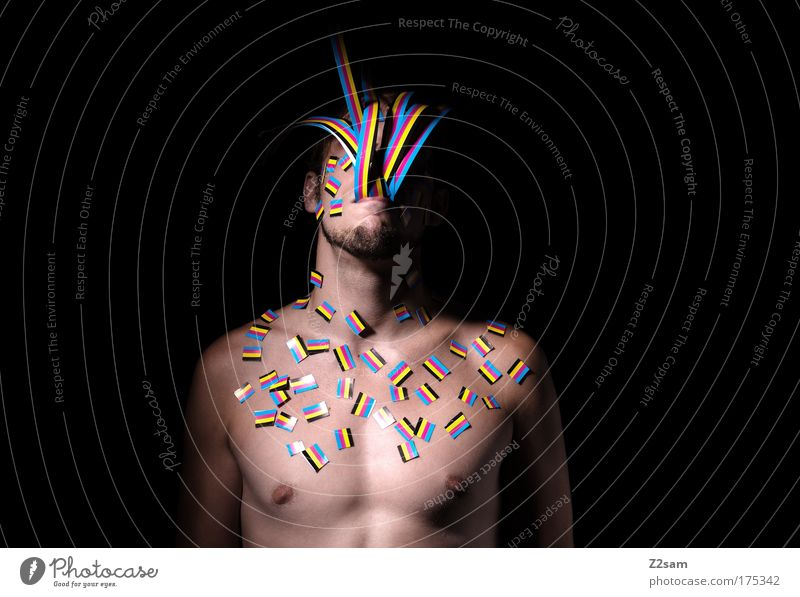 Human being Youth (Young adults) Colour Head Emotions Adults Think Body Portrait photograph Design Masculine Esthetic Growth Paper Cool (slang)