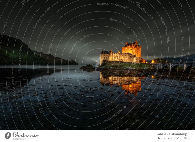 Eilean Donan Castle by Night Architecture Nature Landscape Earth Sky Fog Scotland Europe Manmade structures Building Tourist Attraction Landmark Monument Dream