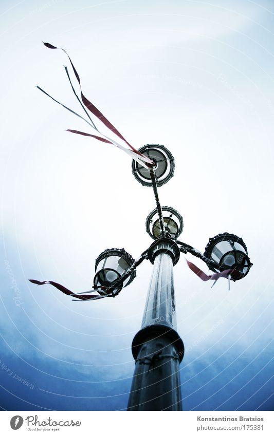 Old Sky White Blue Black Clouds Dark Lanes & trails Metal Wind Change Lantern Nostalgia Street lighting Bow Blow