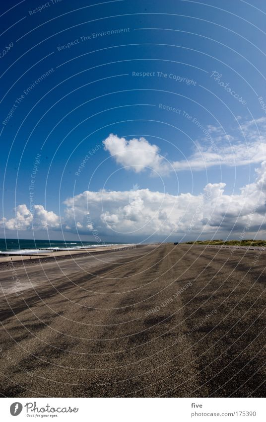 westkapelle_III_zeeland Colour photo Exterior shot Day Contrast Sunlight Wide angle Nature Earth Water Sky Clouds Horizon Summer Weather Beautiful weather Waves