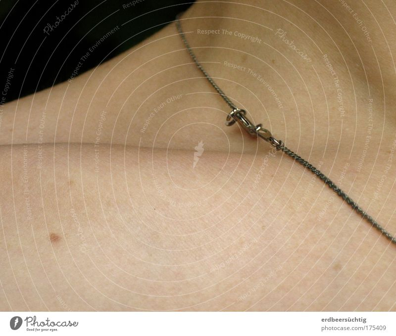 Beautiful Bright Skin Esthetic Delicate Jewellery Necklace Fragile Anatomy Collarbone