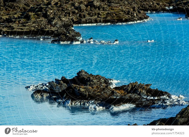 Milky and blue water of the geothermal bath Blue Lagoon Relaxation Spa Swimming pool Vacation & Travel Tourism Adventure Far-off places Winter Nature Iceland