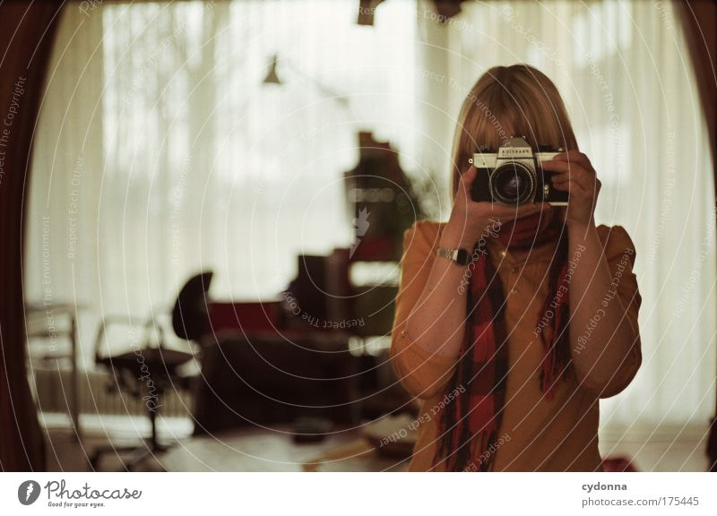Woman Human being Beautiful Calm Loneliness Adults Far-off places Life Emotions Sadness Dream Time Leisure and hobbies Flat (apartment) Photography