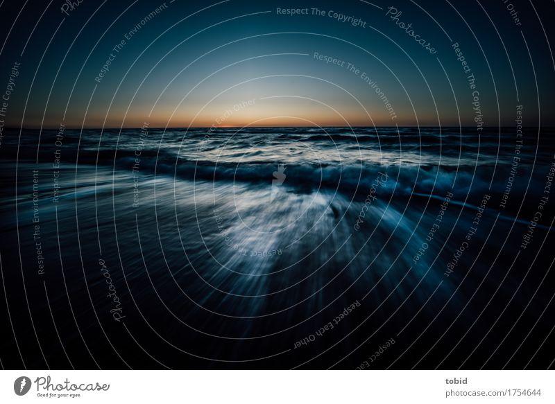Sky Nature Water Landscape Loneliness Far-off places Beach Dark Movement Coast Horizon Waves Idyll Wind Beautiful weather Elements