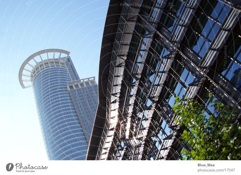 Frankfurt Skyline High-rise Building Summer Architecture Blue sky
