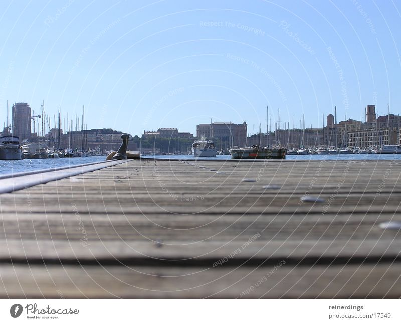 Sky Ocean Summer Wood Watercraft Europe Harbour Skyline France Footbridge Provence Marseille