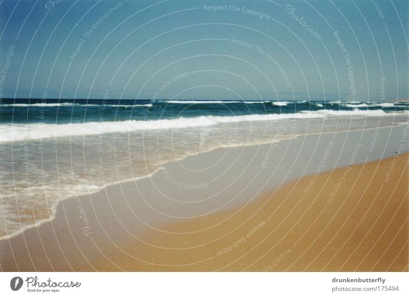 Atlantic Ocean Colour photo Exterior shot Deserted Copy Space top Copy Space bottom Day Sunlight Vacation & Travel Tourism Summer Beach Waves Sailing Dive