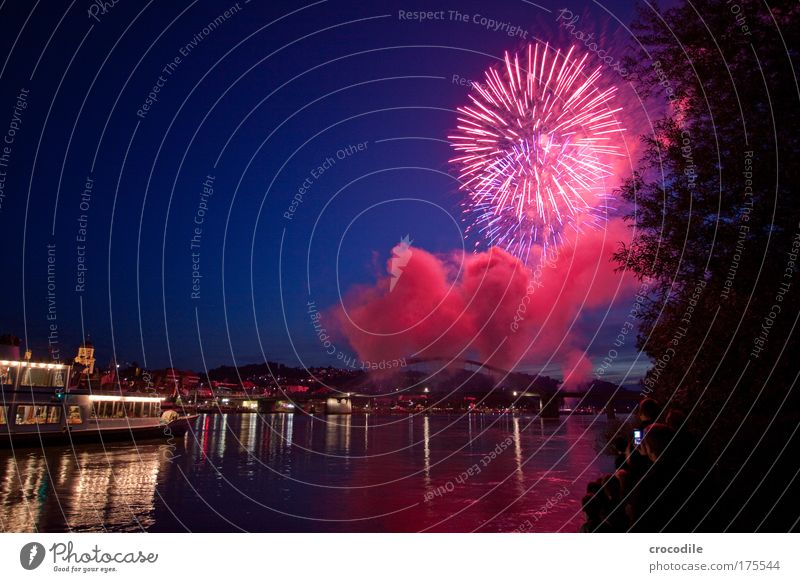 Nature Water Sky Summer Environment Bridge Esthetic River Long exposure Firecracker Skyline Event Traffic infrastructure Navigation Beautiful weather