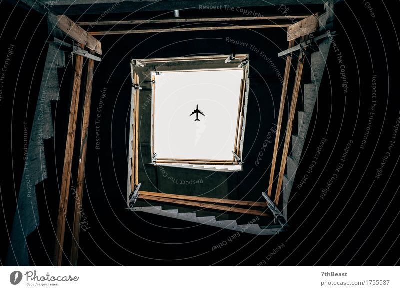Flightover City Blue Beautiful White Dark Window Black Architecture Building Gray Brown Stairs Transport Authentic Observe Airplane