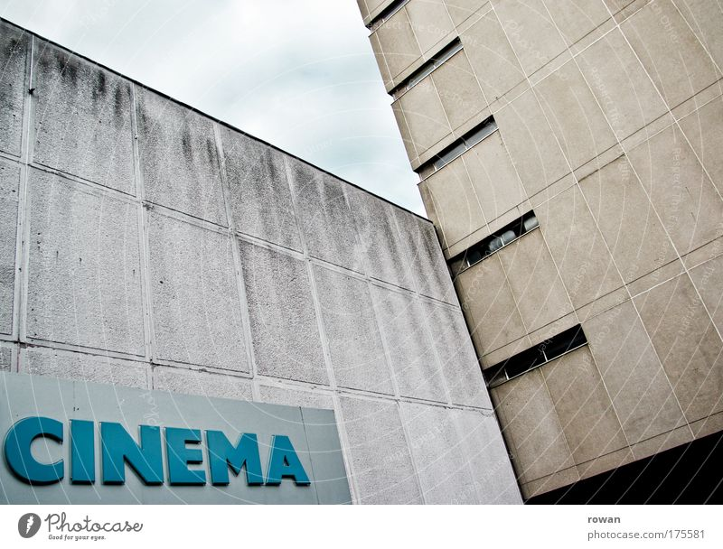 cinema day Colour photo Exterior shot Day House (Residential Structure) Manmade structures Building Architecture Wall (barrier) Wall (building) Facade Old Dark