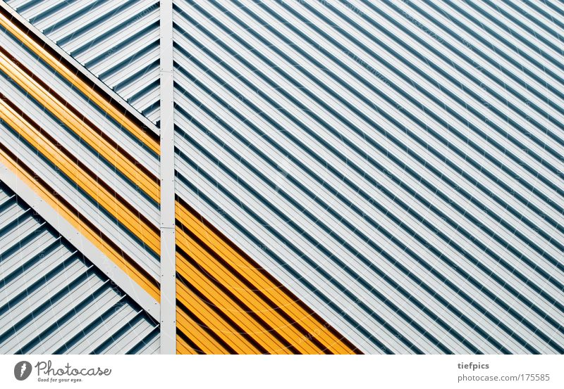 White Yellow Wall (building) Building Wall (barrier) Line Germany Background picture Facade Gloomy Construction site Stripe Living or residing Steel Trashy GDR