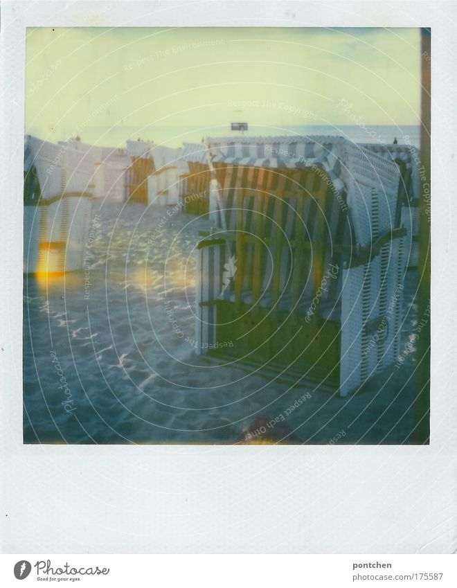 Swinemünde 09 Colour photo Subdued colour Exterior shot Polaroid Copy Space left Copy Space right Copy Space top Copy Space bottom Twilight Light Shadow