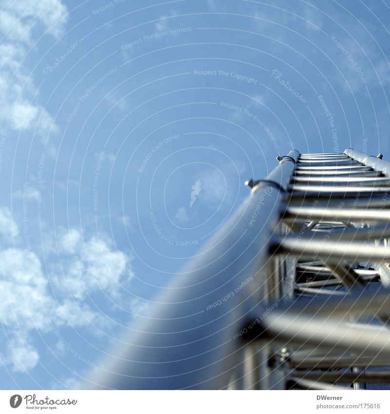 sky traverse Elegant Event Loudspeaker Ladder Stage Concert Outdoor festival Sky Clouds Metal Sharp-edged Anticipation Dream Contact Services Traverse Zigzag