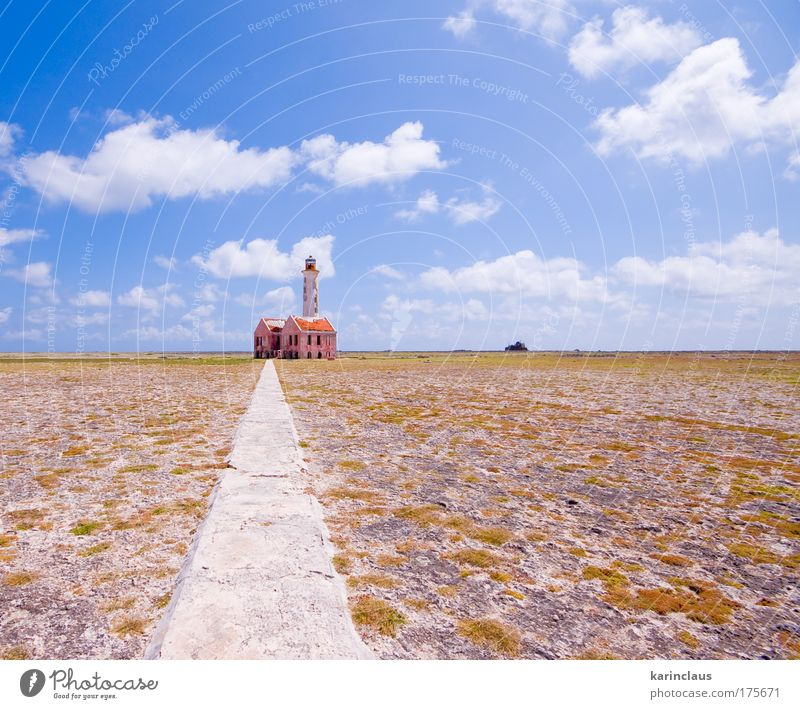 ancient lighthouse ruin Nature Sky Blue Beach Clouds Loneliness Stone Building Landscape Brown Architecture Pink Environment Earth Climate
