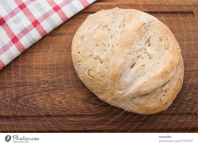 home made bread on wooden board - studio shot Healthy Wood Fresh Nutrition Table Uniqueness Delicious Breakfast Tradition Luxury Home Bread Diet Fasting Quality Vegan diet