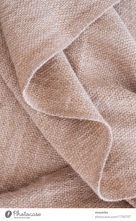 close-up alpaca wool Design Autumn Bad weather Fashion Sweater Soft Brown Background picture Material Wool Alpaca Woven Scarf Cuddly Warmth Wrinkles Textiles
