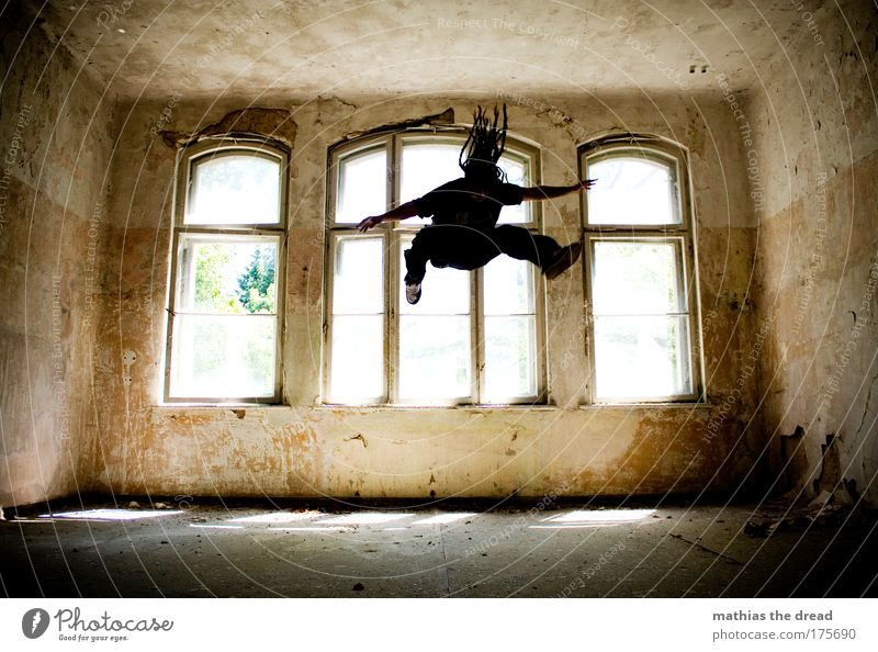 Old Joy Dark Playing Architecture Jump Style Leisure and hobbies Elegant Flying Masculine Esthetic Exceptional Lifestyle Threat Uniqueness
