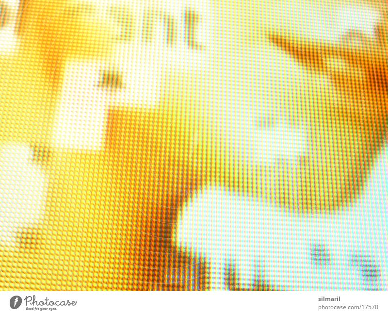 good look Data projector Pixel Woman Lips Typography Yellow-orange Macro (Extreme close-up) Close-up Projection screen Face Mouth Neck
