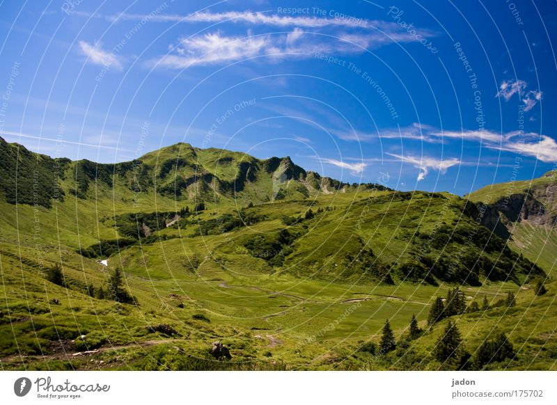 Beautiful Sky Blue Calm Clouds Loneliness Mountain Dream Landscape Austria Climbing Alps Infinity Longing Serene Peak