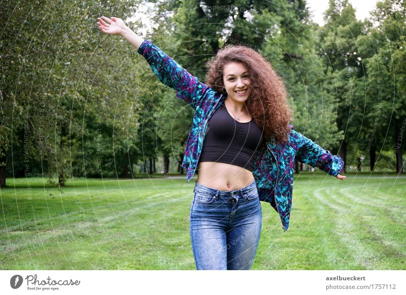 young spanish woman enjoying nature Human being Woman Nature Youth (Young adults) Summer Young woman Tree Landscape Joy Girl 18 - 30 years Adults Meadow Natural Grass Lifestyle