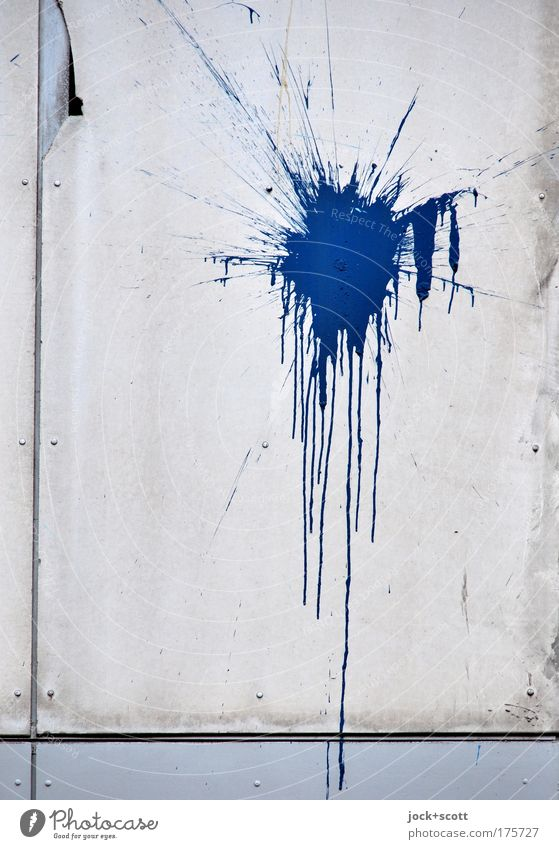 Blue Dye Style Facade Authentic Creativity Simple Uniqueness Change Firm Patch Society Distress Trashy Make Aggression