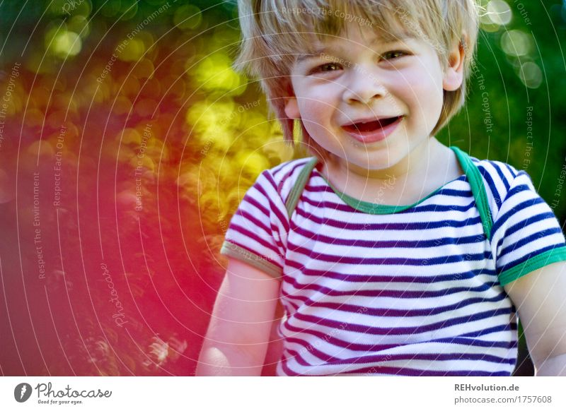 Human being Child Nature Summer Sun Joy Environment Boy (child) Playing Laughter Happy Garden Exceptional Masculine Contentment Authentic
