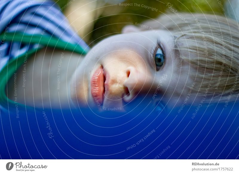 short break on the Luffa Human being Masculine Child Toddler Boy (child) Face 1 1 - 3 years Relaxation Lie Small Cute Attentive Watchfulness Calm
