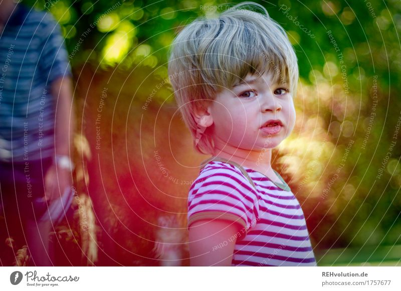 Human being Child Nature Plant Summer Green Face Environment Life Natural Boy (child) Small Garden Hair and hairstyles Masculine Infancy