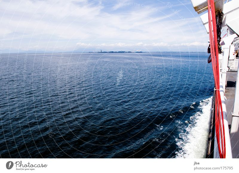 Sky Blue Water Vacation & Travel Summer Ocean Relaxation Trip Tourism Driving Watercraft Navigation Canada In transit Passenger traffic Ferry