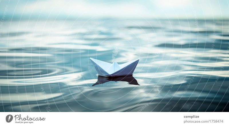 Paper boat on a great journey Healthy Alternative medicine Wellness Calm Model-making Handcrafts Vacation & Travel Cruise Summer Summer vacation Beach Ocean