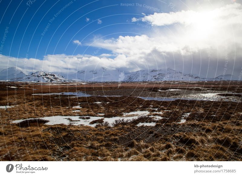 Landscape on the Snaefellsnes peninsula in Iceland Vacation & Travel Tourism Adventure Far-off places Winter Environment Nature Snæfellsnes basal alfjoedur