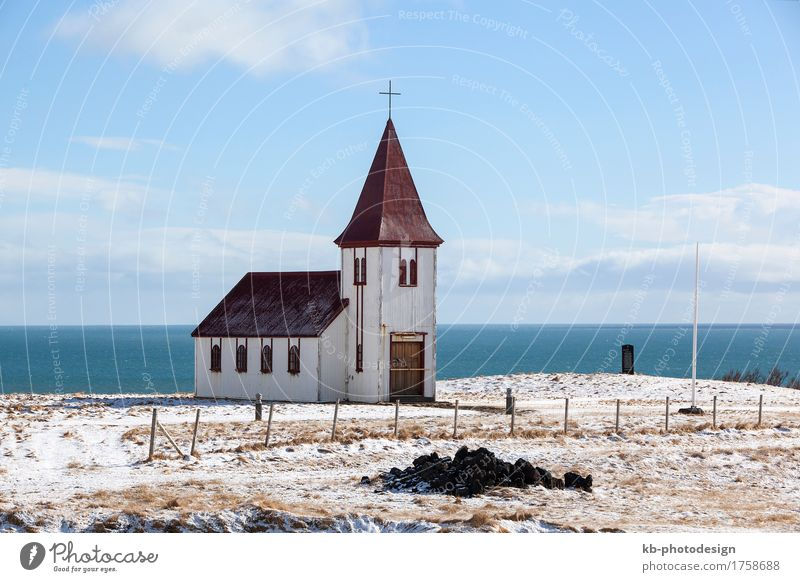 Church of Hellnar at the peninsula Snaefellsness in Iceland Vacation & Travel Tourism Adventure Far-off places Winter Winter vacation Religion and faith pray