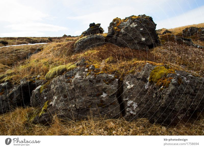 Wild landscape in Iceland, springtime Vacation & Travel Tourism Adventure Far-off places Nature Landscape Weather Hill Rock Snæfellsnes volcano volcanoes west