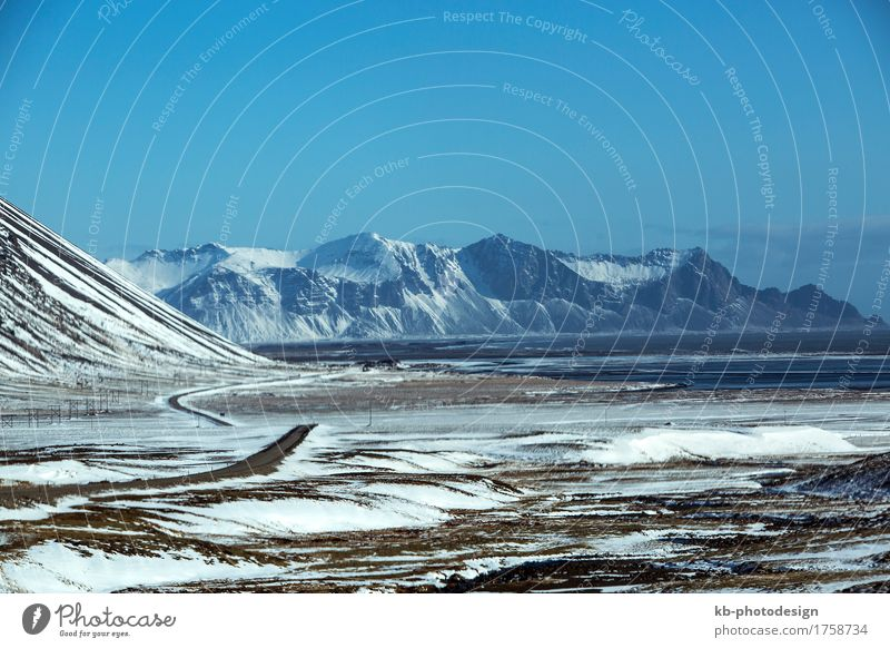 Vacation & Travel Far-off places Winter Mountain Tourism Adventure Iceland