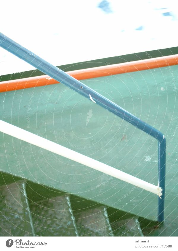 White Green Blue Stairs Handrail Watercraft Ferry Photographic technology Orange-red