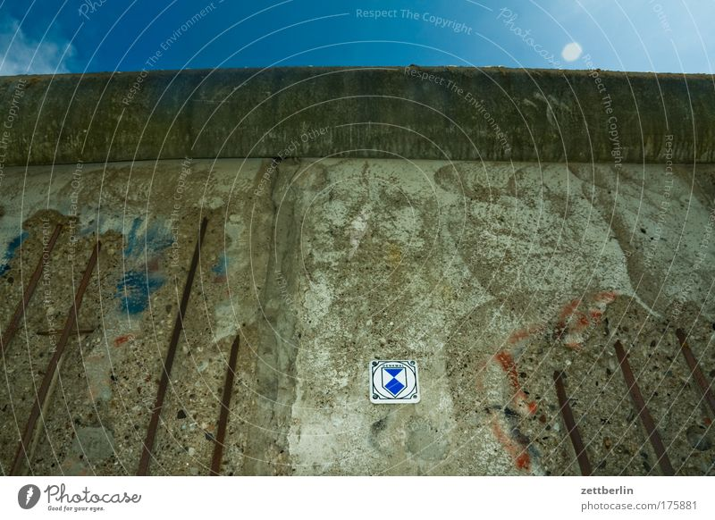 Berlin Wall (barrier) Germany Concrete Europe Border Fence GDR Copy Space No man's land
