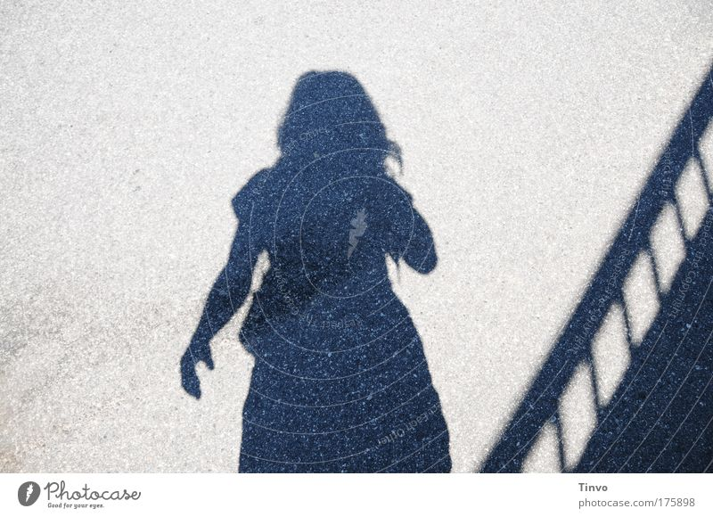"""""""Bye vacation!"""" Subdued colour Exterior shot Day Light Shadow Contrast Silhouette Feminine Woman Adults 1 Human being Stand Longing Homesickness Wanderlust"""