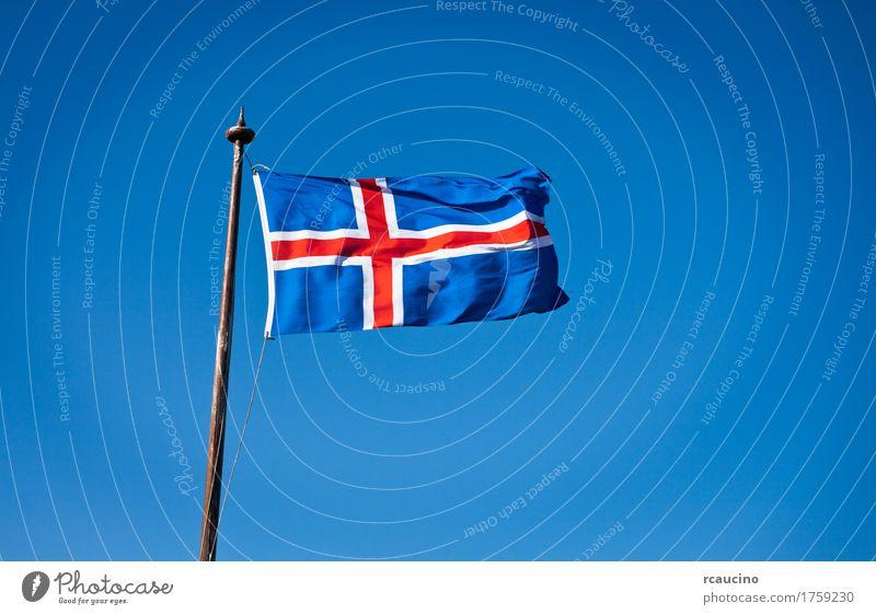 The civil national flag of Iceland Sky Blue White Red Flag