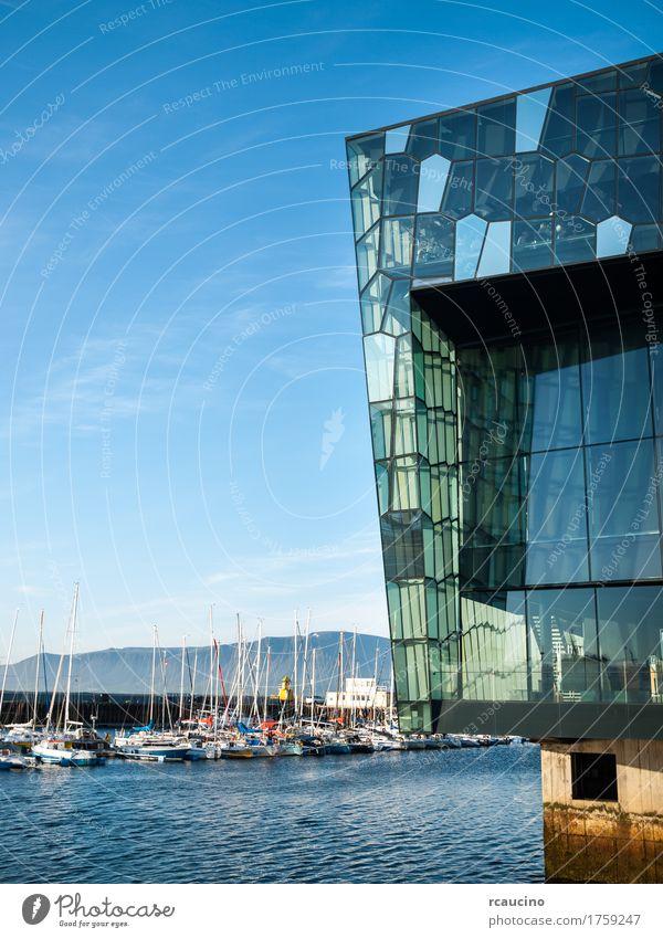 Harpa – Reykjavik Concert Hall - Iceland, Europe Summer Landscape Architecture Modern Harbour Yacht harbour Reykjavík