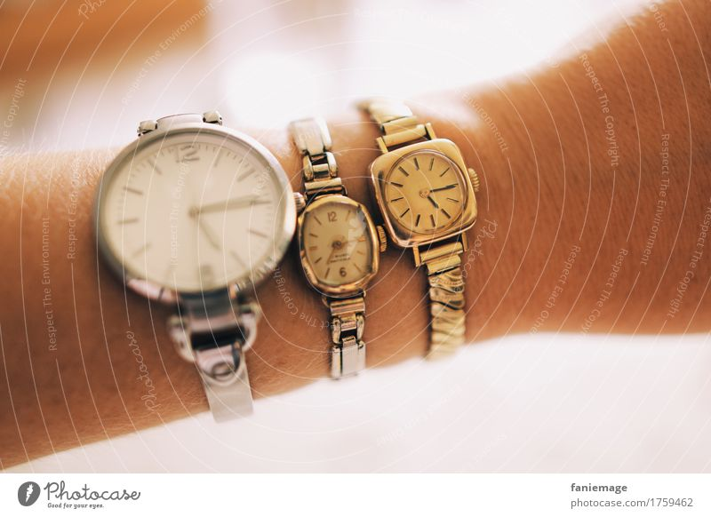 time Accessory Wristwatch Old Clock Time Offense Silver Gold Ancient New Difference Arm Watch syncronization White Blur Model Craft (trade) Evolution Prompt